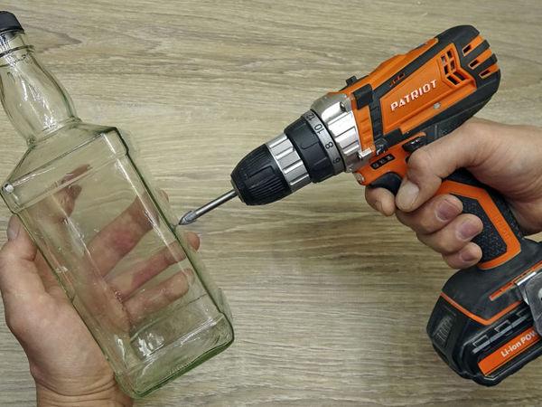Как просверлить стеклянную бутылку, кафельную плитку или стекло: видео мастер-класс