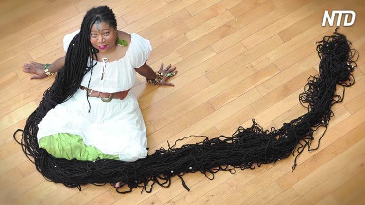 Самые длинные в мире дреды — 17 метров волос «Черной Рапунцель»
