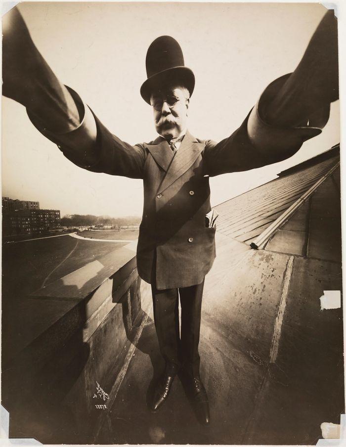 Self-Portrait By Photographer Joseph Byron, 1909
