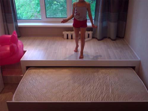 Подиум для выдвижной кровати своими руками