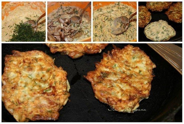 ДРАНИКИ из кабачка с ОВСЯНКОЙ и лесными грибами