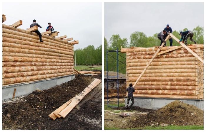Заканчивается строительство еще двух домов для будущих фермеров (Султаново, Челябинская область).