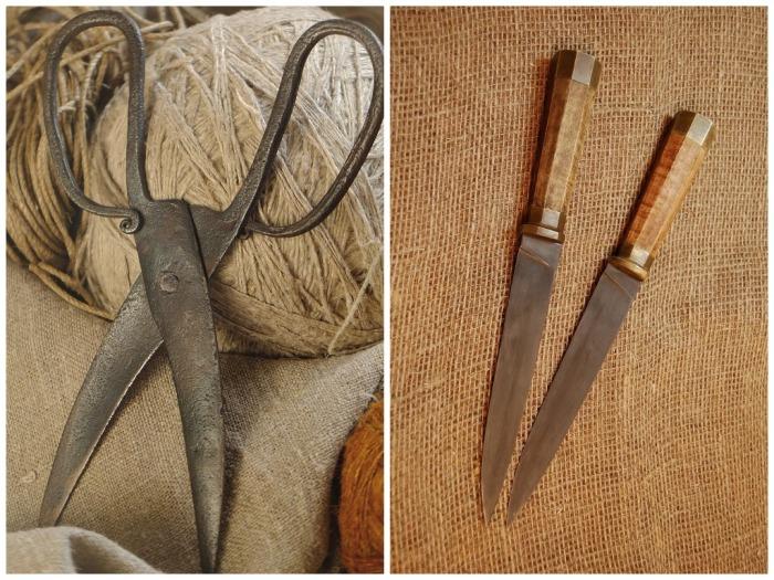 Наши бабушки считали, что ножницы и нож могут стать оберегом от плохих сновидений и нечистой силы / Фото: rusknife.com