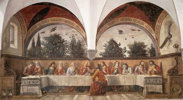 Доменико Гирландайо. Тайная вечеря. 1480
