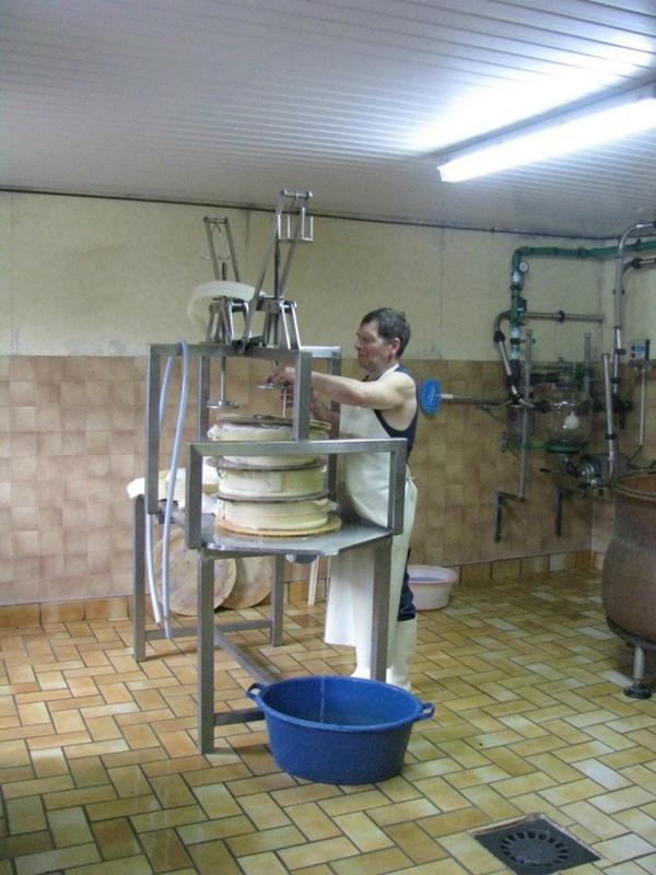Производство сыра в Альпах