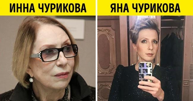 15 пар российских звезд, поразительно похожих друг на друга (Но они не родственники)