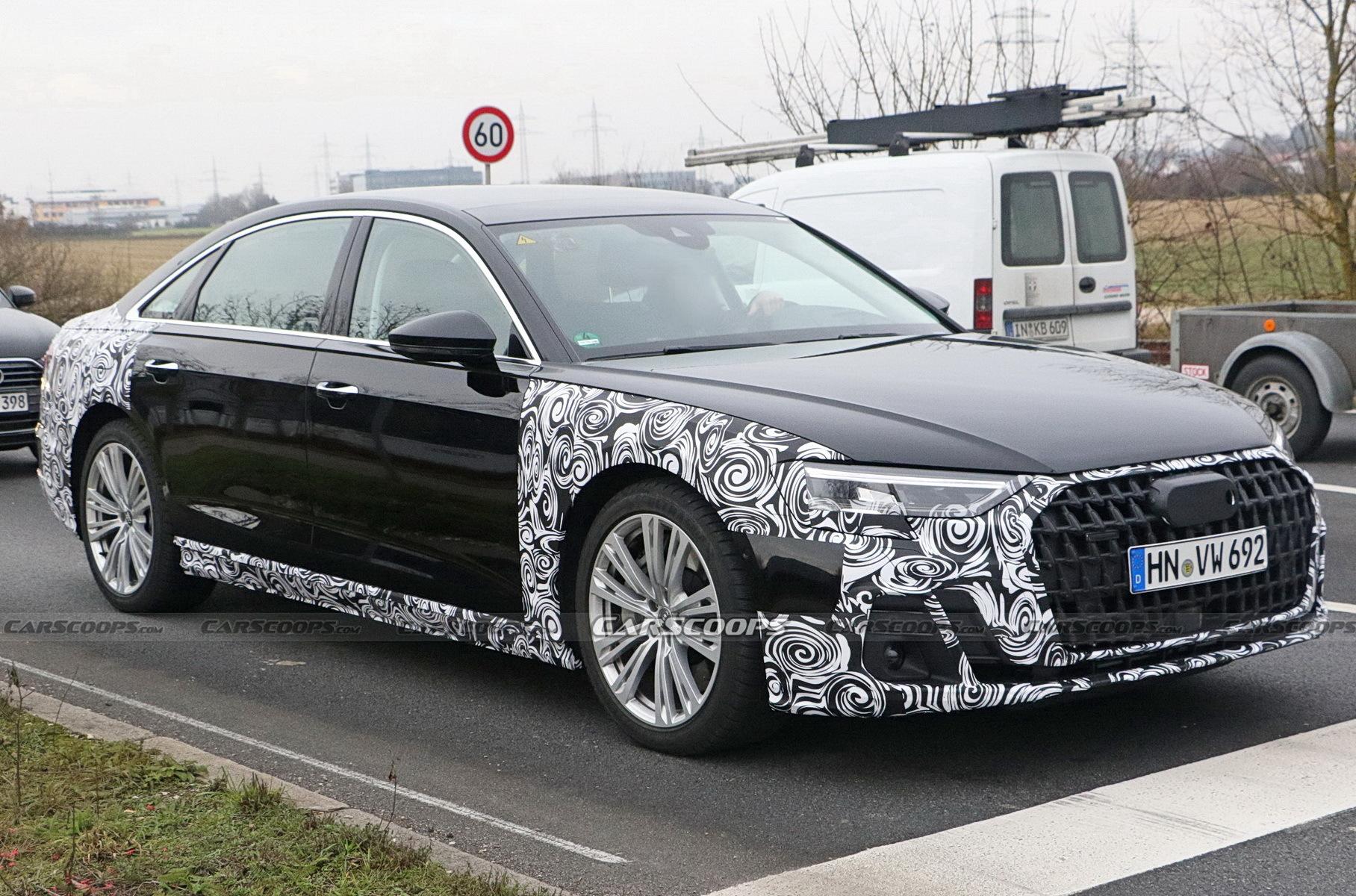 Опубликованы первые снимки обновленной Audi A8 Новости