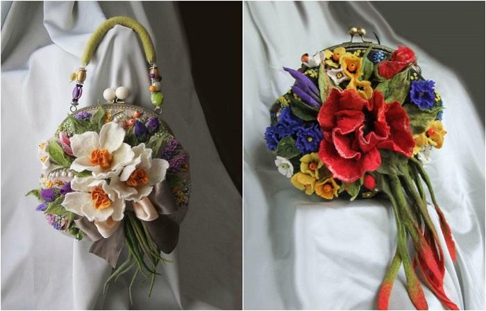 Цветочные  сумки ручной работы от мастера Ольги Гуляевой