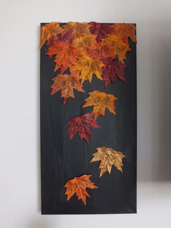 интересные поделки из осенних листьев