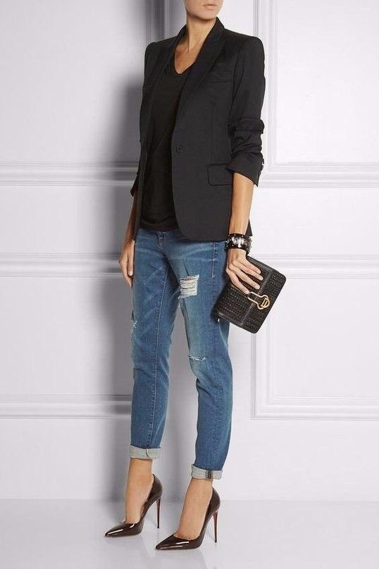 Составляем образы с джинсами