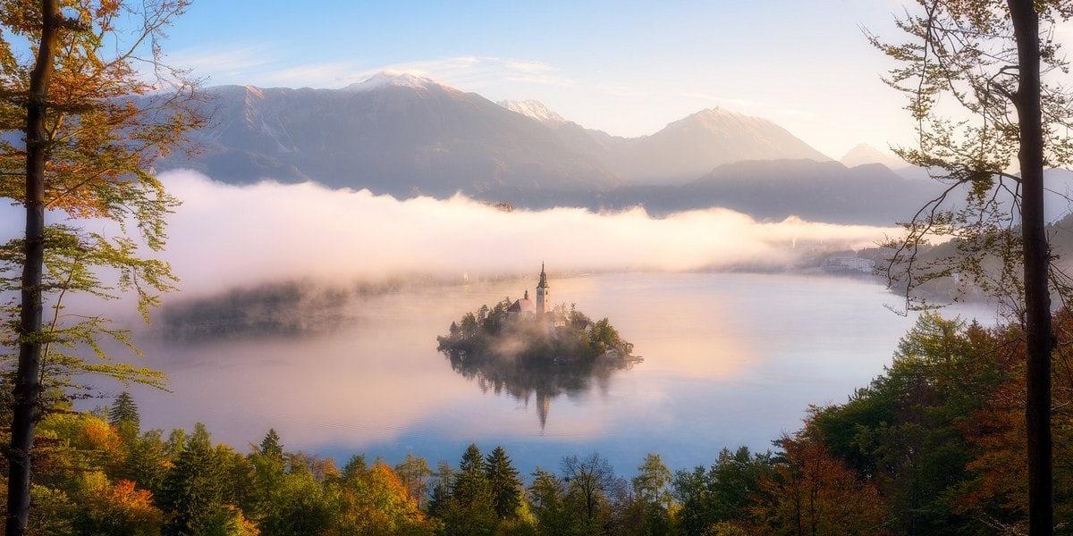 Озеро Блед на северо-западе Словении