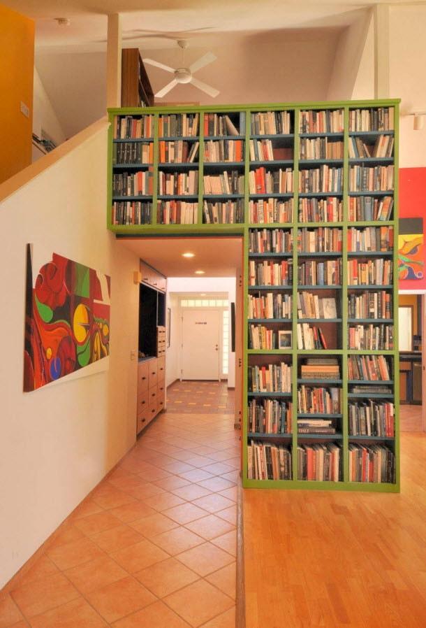 Пролет в оформлении книжных полок