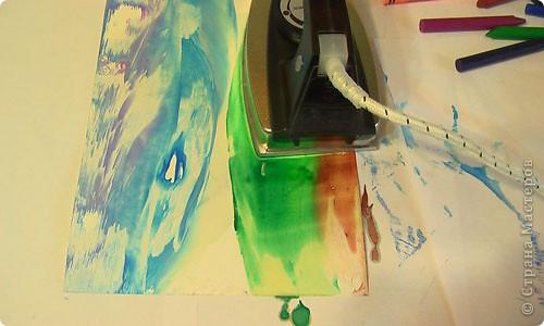 Картина, панно, рисунок, Мастер-класс Энкаустика: как я рисую утюгом Воск. Фото 7