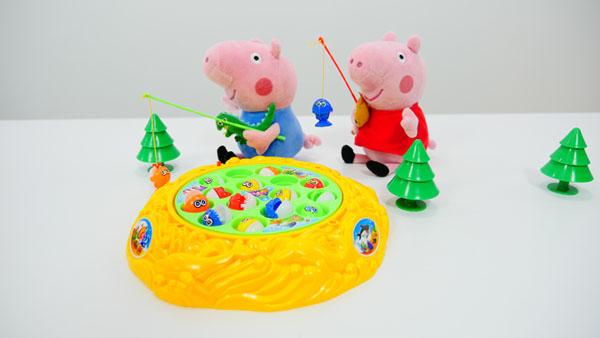 Рыбалка со Свинкой Пеппи и Джорджем. Видео для детей на немецком