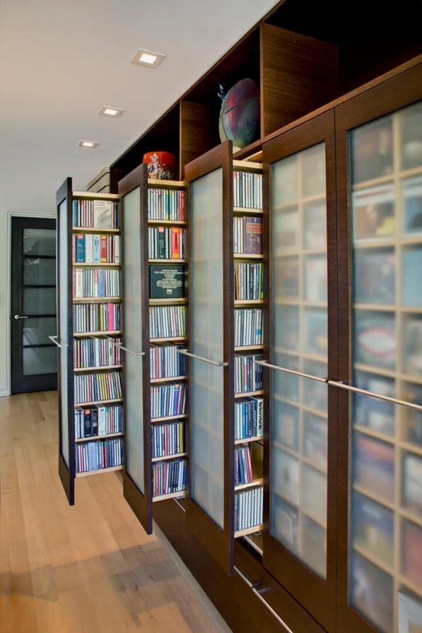 Выдвижные стеллажи для книг