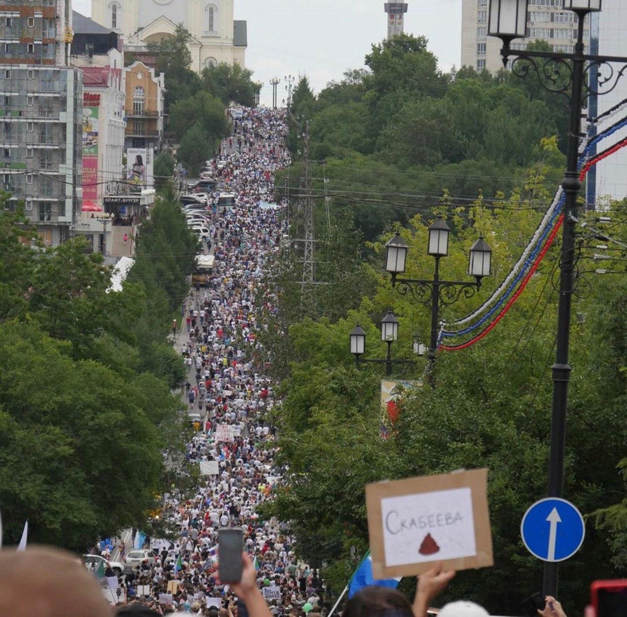Почему в Хабаровске не разгоняют граждан власть,общество,политика,россияне