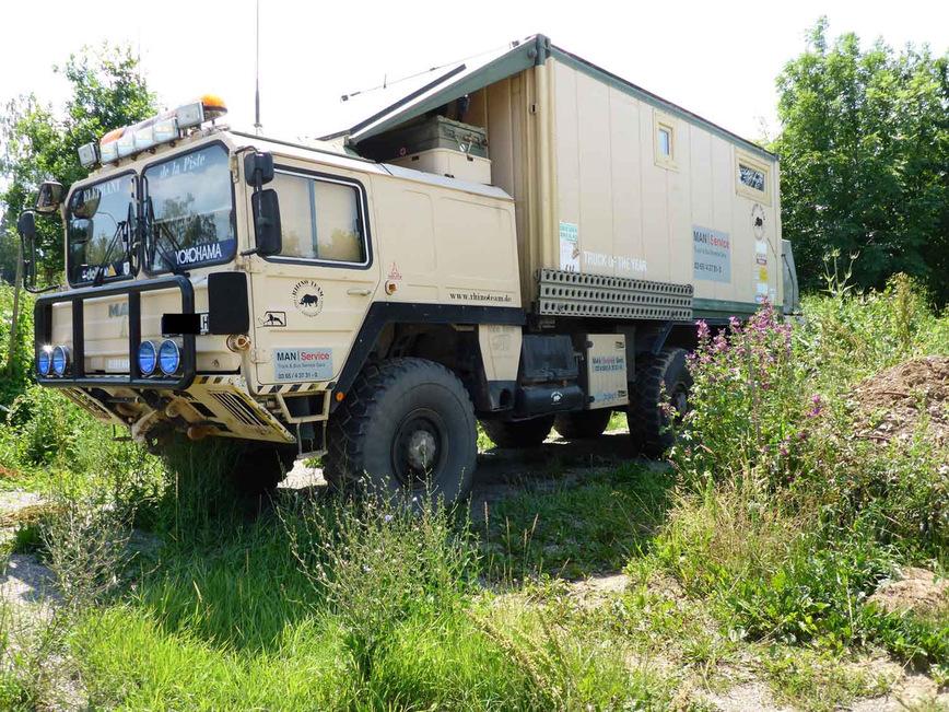 Отличный кемпер на базе военного грузовика MAN автосамоделки