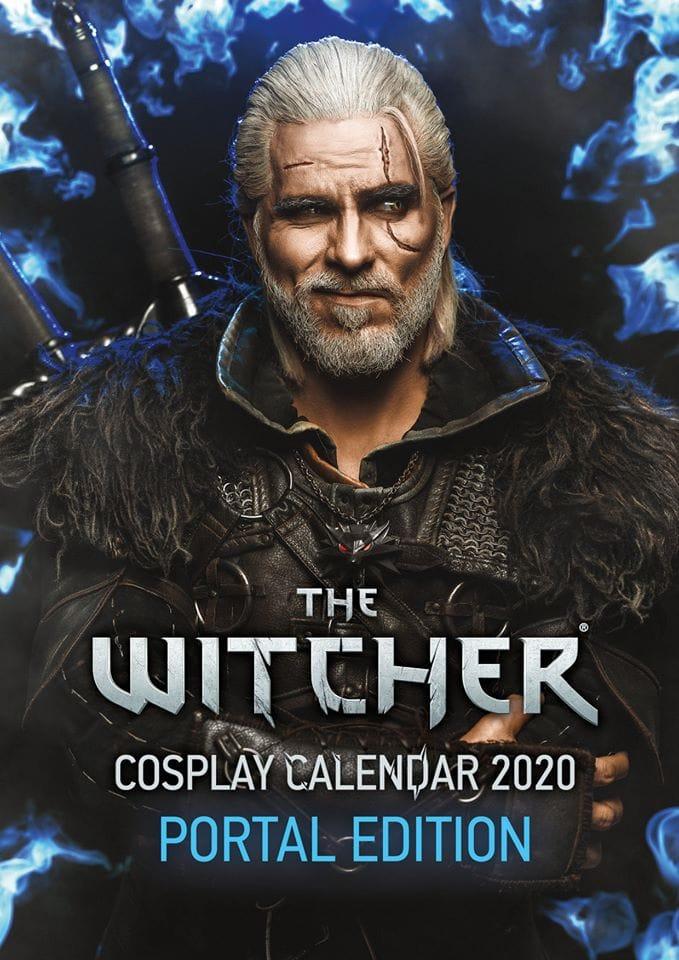 Недавно косплеер представил календарь с героем цикла книг о игр ведьмаке Геральте Ведьмак,Игры,косплей,фэндом