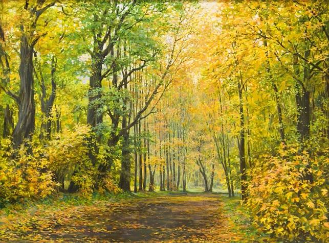 Русские пейзажи Марии Вишняк живопись