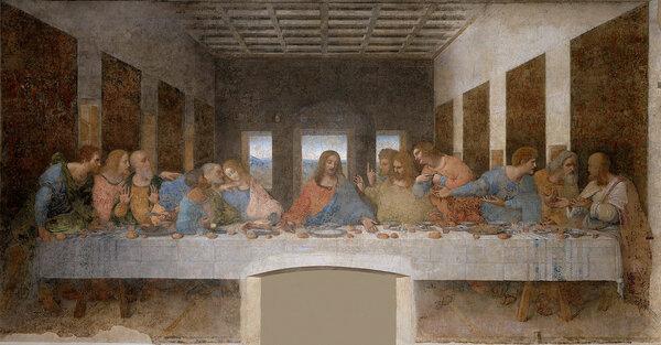Леонардо да Винчи. Тайная вечеря. 1490-е