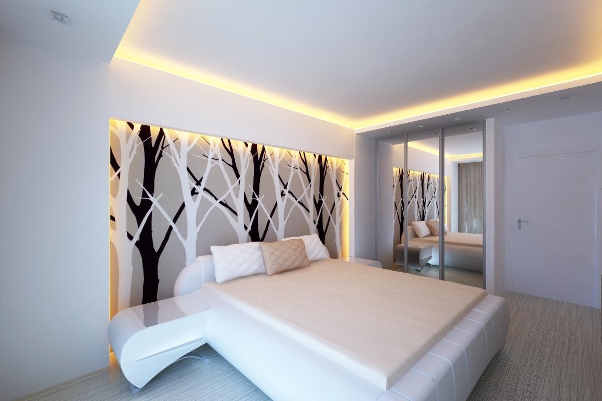 Парящий потолок: разновидности конструкций, форм, цвета, идеи дизайна в интерьере-0