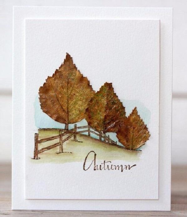 Поздравительные открытки из природного материала