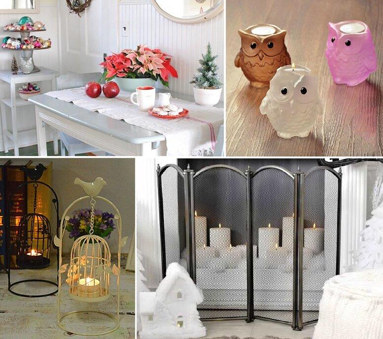 Подсвечники на Новый год: создаем романтичную и праздничную атмосферу идеи для дома,интерьер и дизайн,новогодний декор