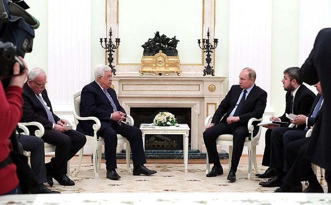 Переговоры с Президентом Палестины Махмудом Аббасом  - НОВОСТИ НЕДЕЛИ