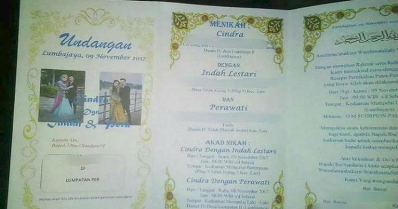 «Сначала с одной поживи»: индонезийца раскритиковали за свадьбу с двумя женщинами одновременно