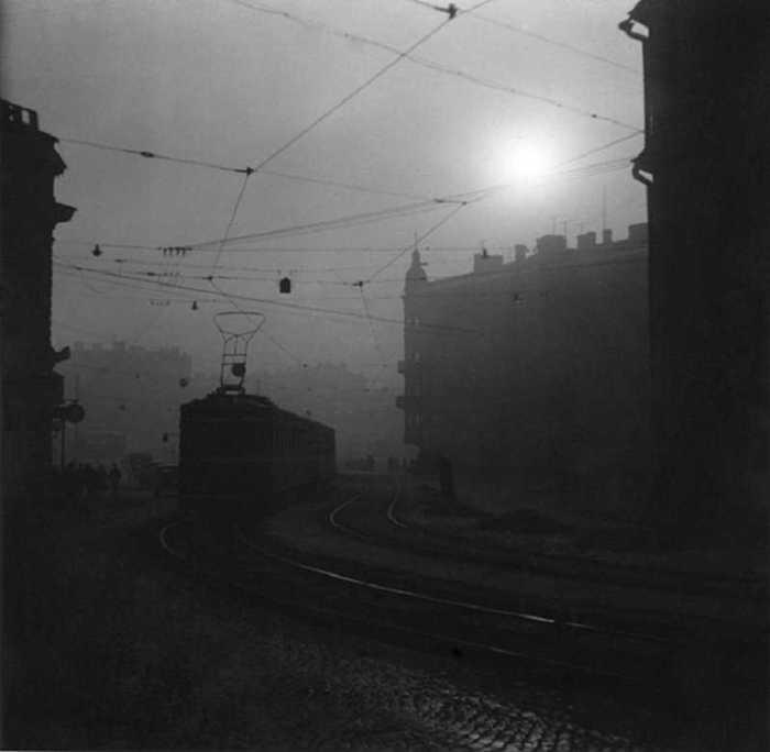 Трамвай. СССР, Ленинград, 1956 год.