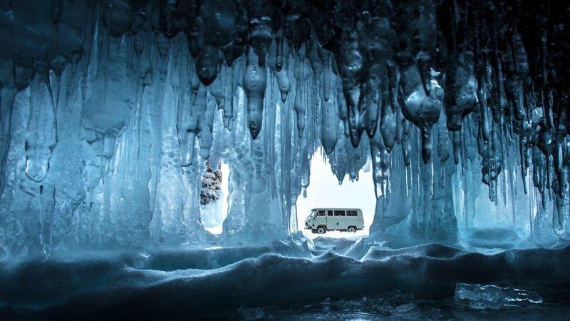 Лед + УАЗ = Сибирь Зимняя сказка, байкал, зима, красота, лед, снег, фото, фоторепортаж