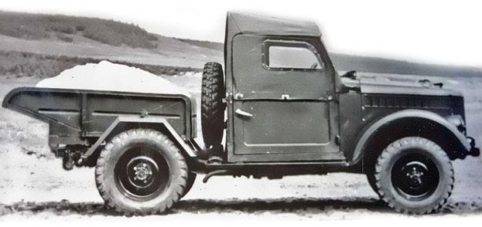 Легковой грузовик на базе ГАЗ-69.