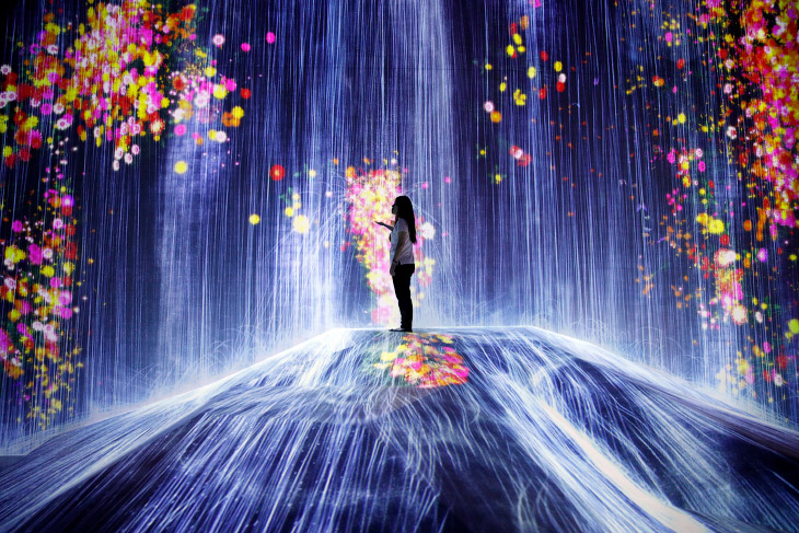 Интерактивный музей цифрового искусства в Токио