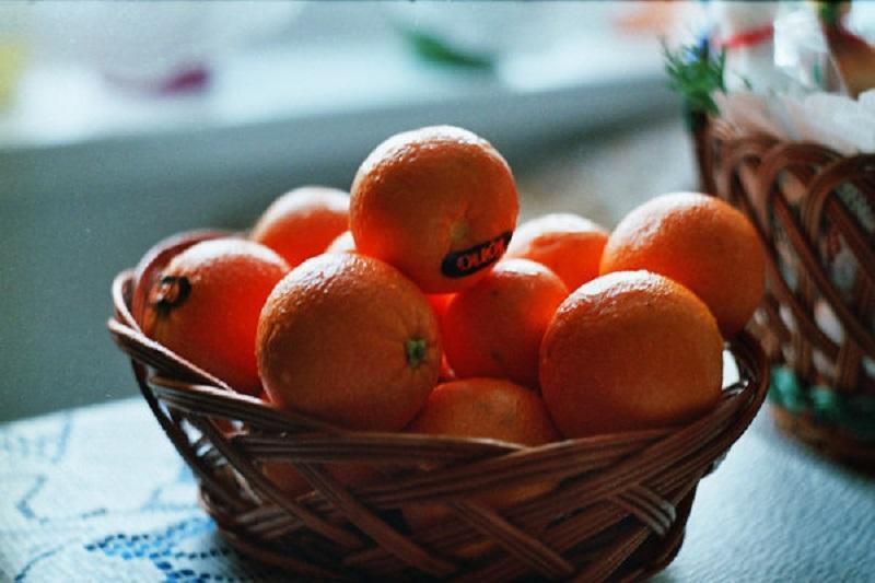 мандарины в микроволновке