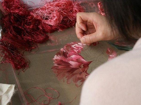 Вышивка шелком — секреты техники китайских картин в МК