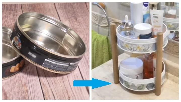 Как превратить жестяные банки из-под печенья в предмет мебели