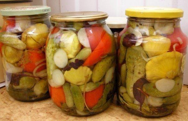 Маринованные овощи «Огород» на зиму — вкуснятина