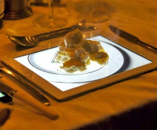 4. Десерт из яблок на планшете блюдо, еда, идея, оригинальность, подача, ресторан, сервировка, странность
