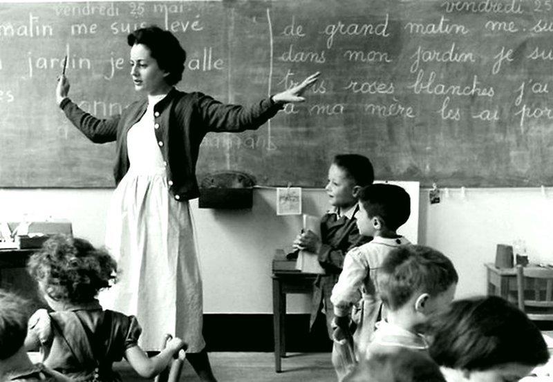 Учитель в Париже в 1956 году Весь Мир в объективе, ретро, старые фото