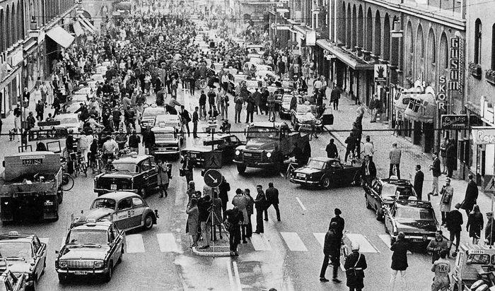 Dagen H - день, который навсегда изменил современную Швецию.  авто и мото