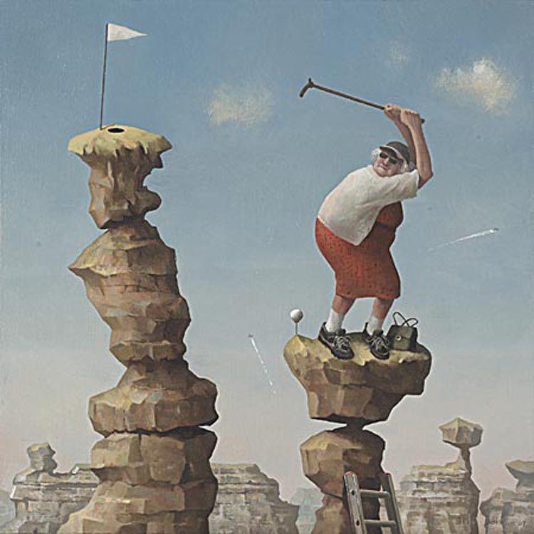 Когда старость в радость: оптимистичные работы голландского художника Marius van Dokkum, фото № 24