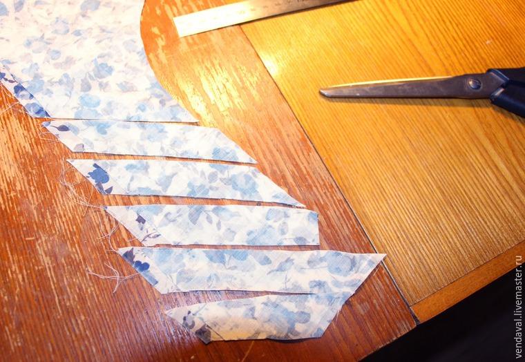 Изготавливаем вытачные рулики из ткани