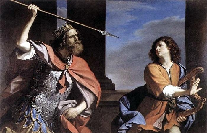 Саул, нападающий на Давида. Автор: Джованни Гверчино.