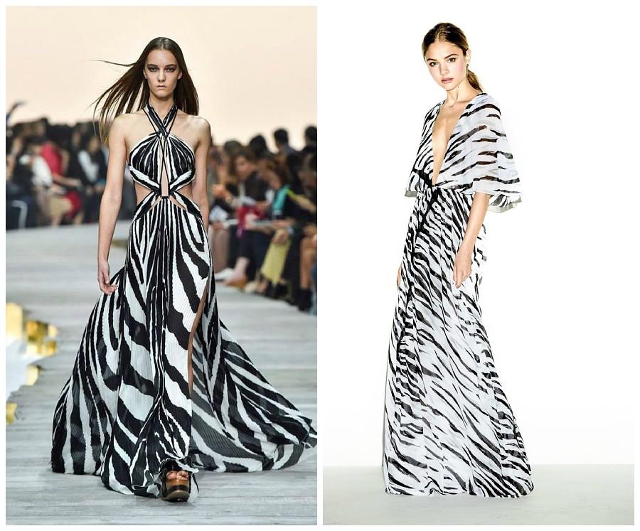 Модные сочетания с принтом «зебра» в 2018