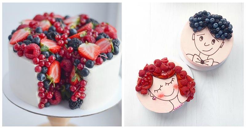 Сочный креатив: украшаем торт ягодами в 30+ интересных техниках