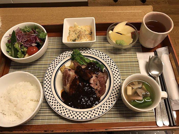 Ужин блюдо, еда, пища, родильный дом, роженица, фото, япония