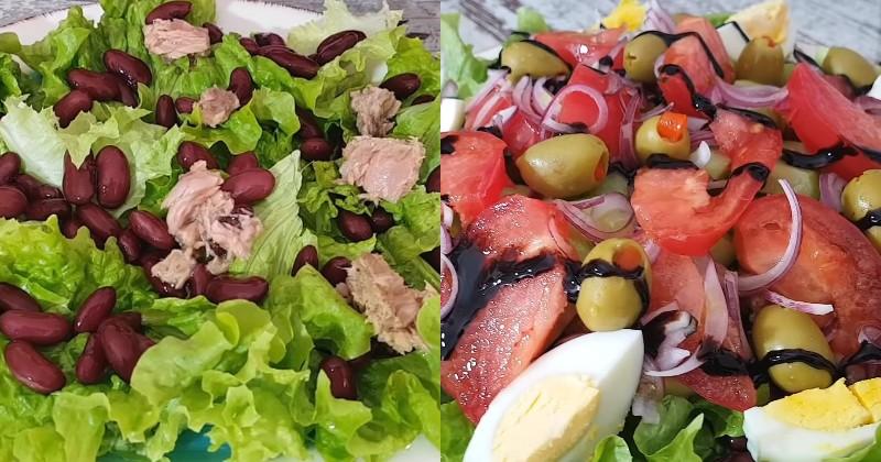 Подборка салатов с тунцом