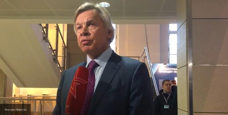 Пушков раскритиковал украинские санкции против Белоруссии