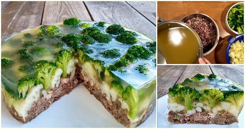 Закусочный мясной торт «Леши…