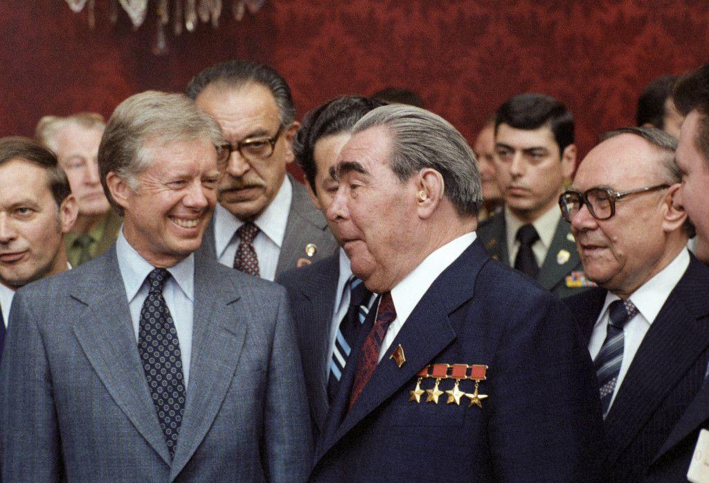 1979 Визит Генерального секретаря ЦК КПСС Леонида Брежнева в Австрию для переговоров с президентом США Джимми Картером Фотохроника ТАСС